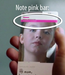 Note the pink bar indicating Shannon's emotion